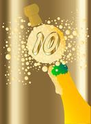 10 Champagne - stock illustration