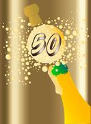 50 Champagne Stock Illustration