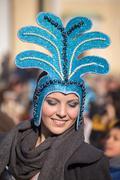 Kukeri festival in Pernik, Bulgaria - stock photo