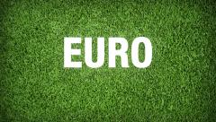 Euro Football France 2016 Teams Video Animation Stock Footage