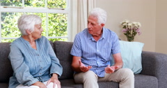 Senior couple having an argument Stock Footage