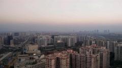 Panning shot of gurgaon cityscape Stock Footage