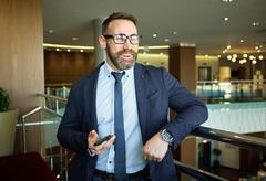 Modern businessman Stock Photos
