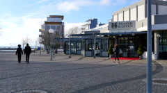 Visiting Helsingborg and exploring the area along the seaside Stock Footage