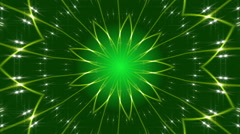green abstract background, kaleidoscope light, loop - stock footage
