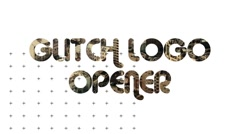 Glitch Logo Opener - stock after effects
