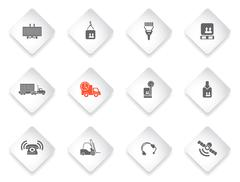 Logistics Icon Set Piirros