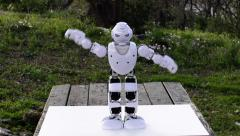 An android humanoid robot believes he is an octopus  Stock Footage