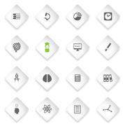 University simply icons - stock illustration