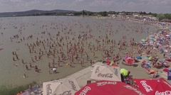 Summer festival at the beach Stock Footage