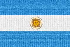Argentina flag - stock illustration