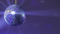 Discoball in purple light Stock Footage
