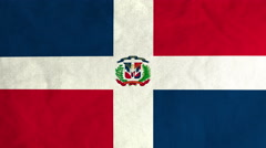 Dominican flag waving in the wind (full frame footage) Stock Footage