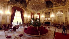 Apartments of Napoleon III in the Louvre Museum in Paris. France. 4K. Stock Footage