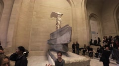 The Winged Victory of Samothrace, also called the Nike of Samothrace in the Stock Footage