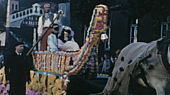 Calais 1956: Venice float at the carnival Stock Footage