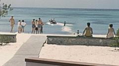 Aruba 1957: water ski - stock footage