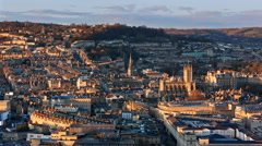 Bath City Sunset Time Lapse Stock Footage