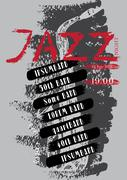 Vector jazz, rock or blues music poster template. - stock illustration