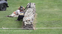 Stock Video Footage of Battle Reenactment