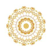 Gold pattern for the cards,  invitations, book page decoration - stock illustration