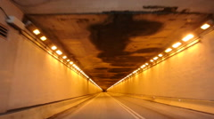 Driving Into a Tunnel Stock Footage