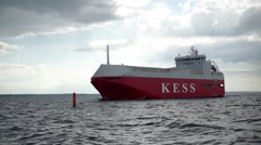 Tanker ship on route to Baltic Sea Arkistovideo