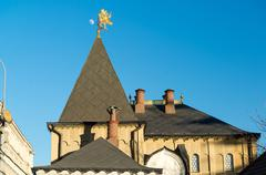 Moscow, roof Romanov Chambers in Varvarka street, Russia. Sight - stock photo