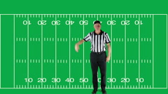 Ineligible Receiver, green screen with field - stock footage
