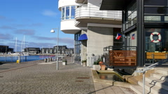 It´s easy to find a nice place to dine along the seaside Stock Footage