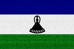 Lesotho flag - stock illustration