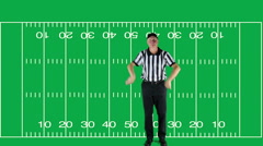 Intentional Grounding, green screen with field - stock footage