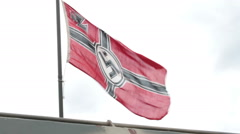 Nazi Germany Flag Stock Footage