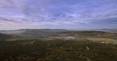 4K Aerial, Flight above forest in Andalusia, Spain Stock Footage