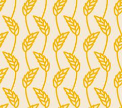 Wheat ears seamless pattern. Golden Rye background. Wheatfield infinite. Seed - stock illustration