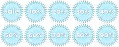 Set of winter sale icons Stock Illustration