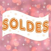 French winter sale, soldes Stock Illustration