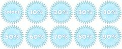 Set of french winter sale icons Stock Illustration