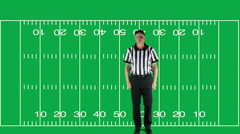 Roughing the Kicker, green screen with field - stock footage