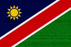 Namibia flag - stock illustration