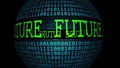 Future spinning globe Stock Footage