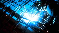 metal welding - stock footage