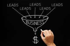 Lead Generation Business Funnel Concept - stock photo