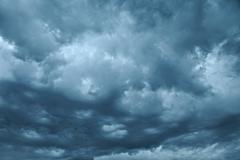 Stormy Dark Clouds - stock photo