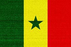 Senegal flag - stock illustration