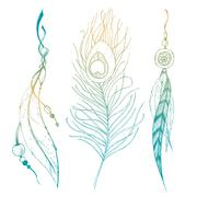 Nice graphic feather Stock Illustration