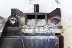Leaky car radiator - stock photo