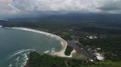 Aerial View of Barra do Una, Sao Paulo, Brazil Stock Footage