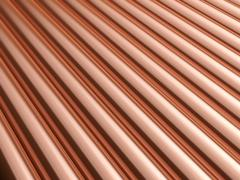 Copper pipes background - stock illustration