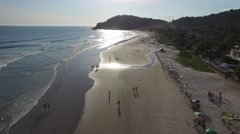 Sunset on Juquehy Beach, Sao Paulo, Brazil Stock Footage